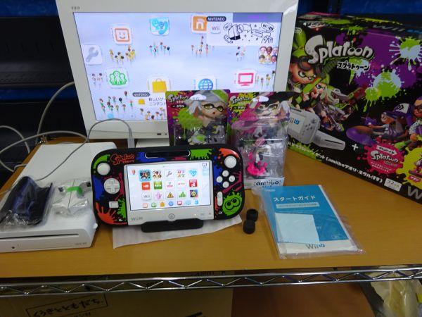 任天堂 Wii U スプラトゥーン セット (amiibo アオリ・ホタル未開封) 買取しました。
